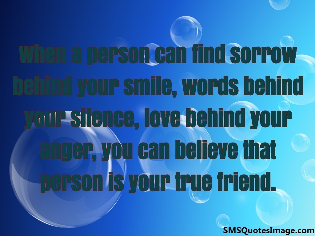 That person is your true friend