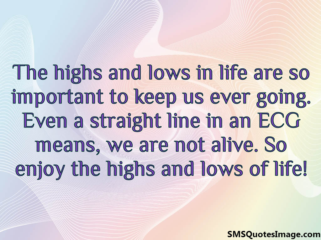 Wise Life Quotes The Highs And Lows In Life  Wise  Sms Quotes Image