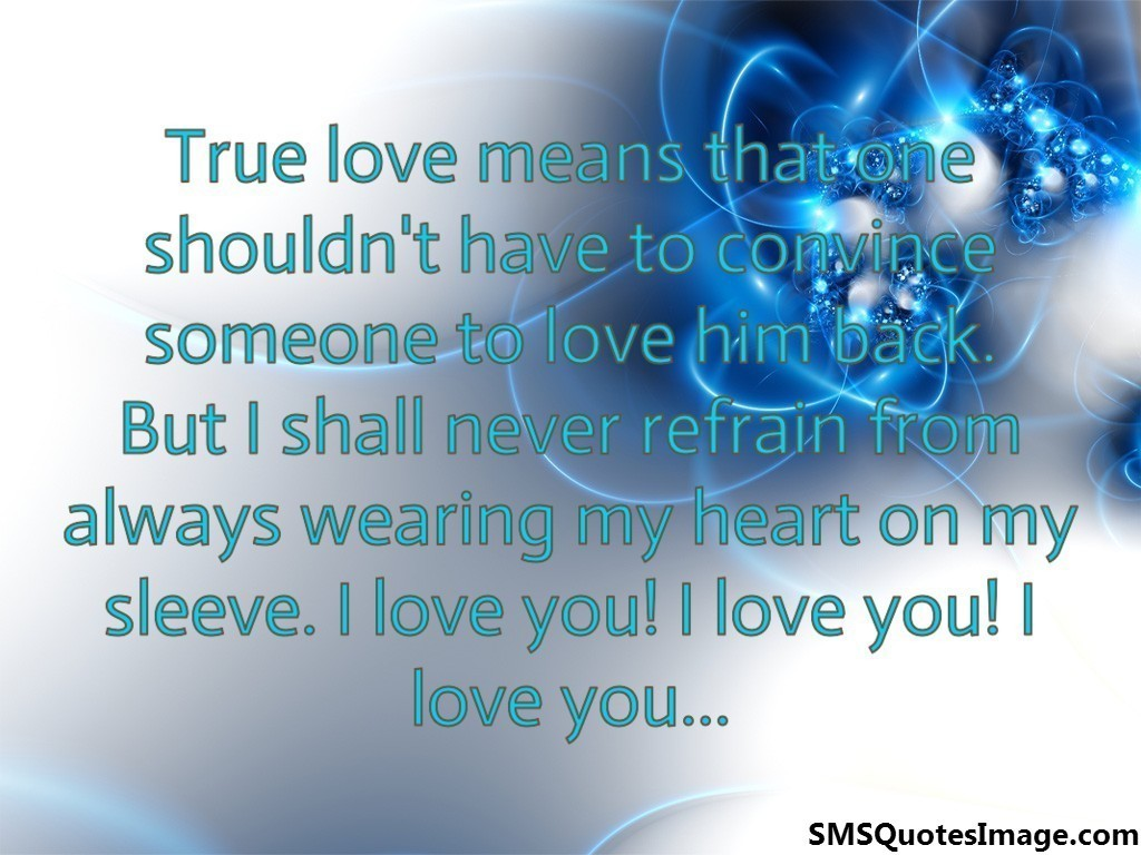 True love means that