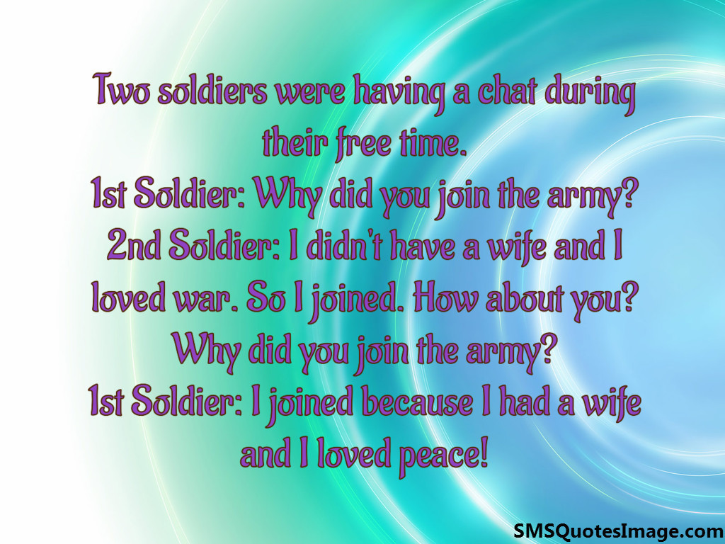 Two soldiers were having a chat