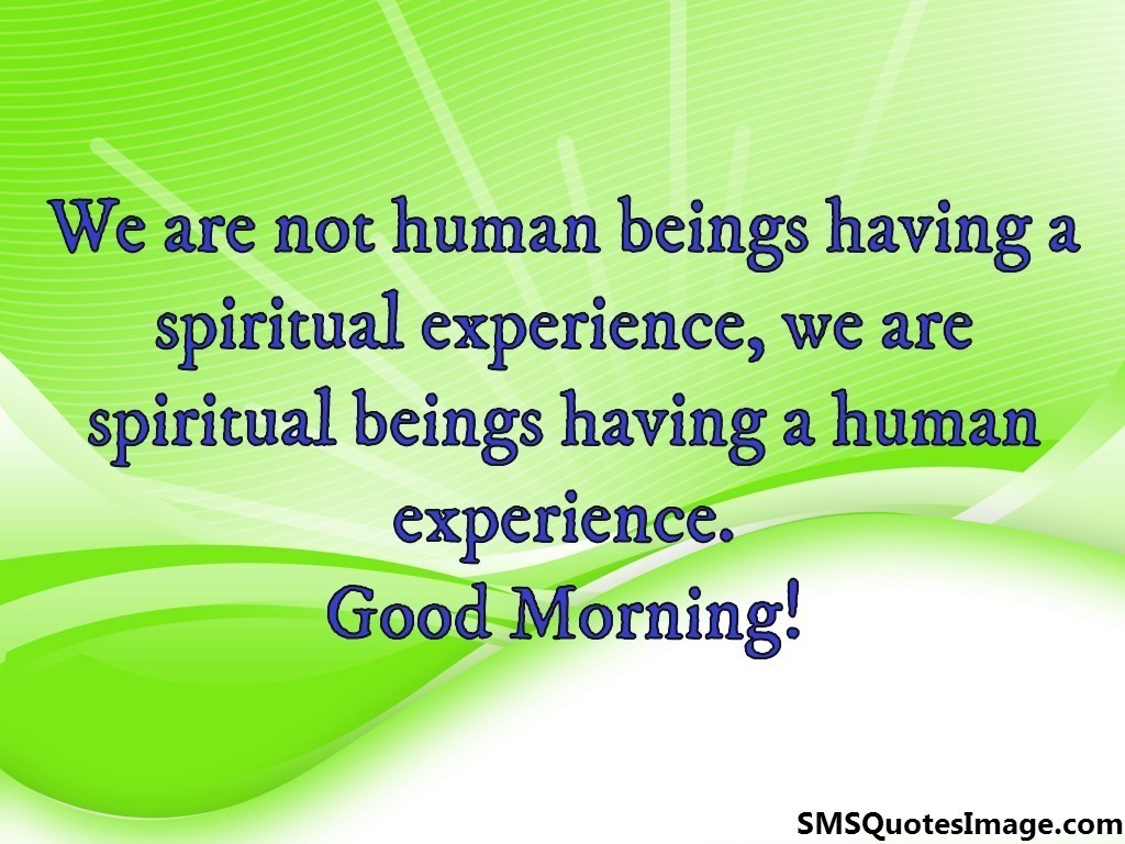 Good Morning Spiritual Quotes We Are Not Human Being  Good Morning  Sms Quotes Image