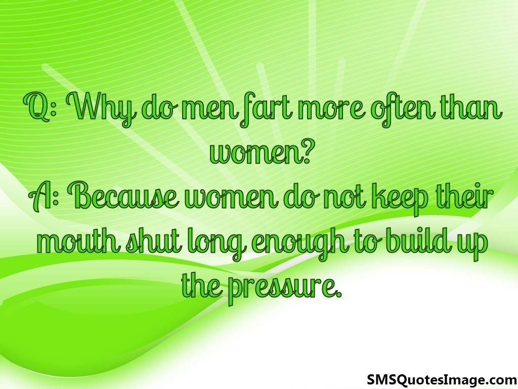 Why do men fart more often