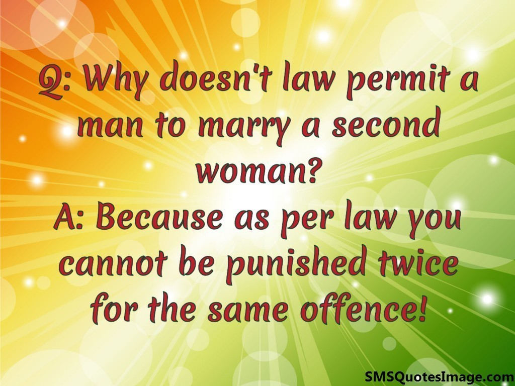 Why doesn't law permit a man