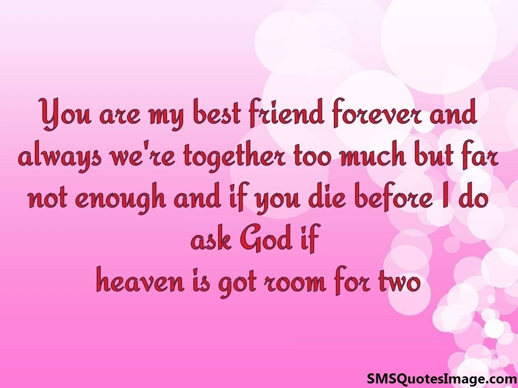 Quotes About Love And Friendship Forever : You are my best friend forever friendship sms quotes image