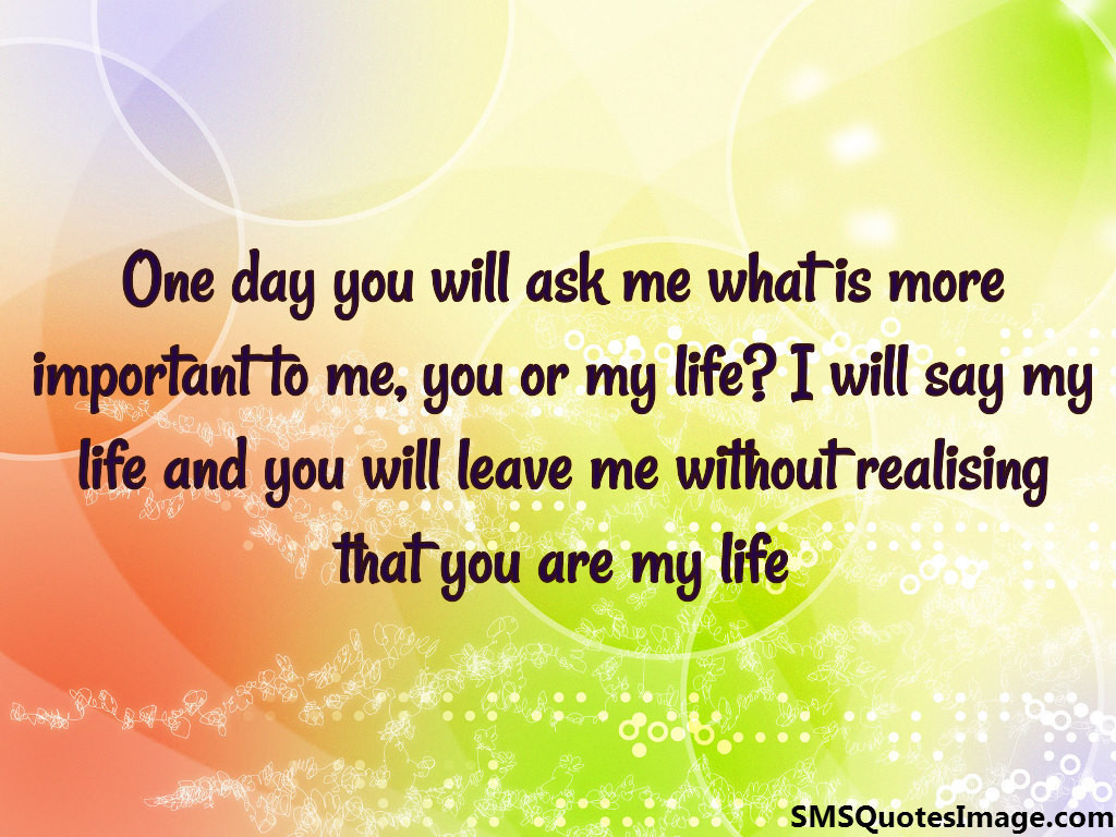 you are my life love sms quotes image